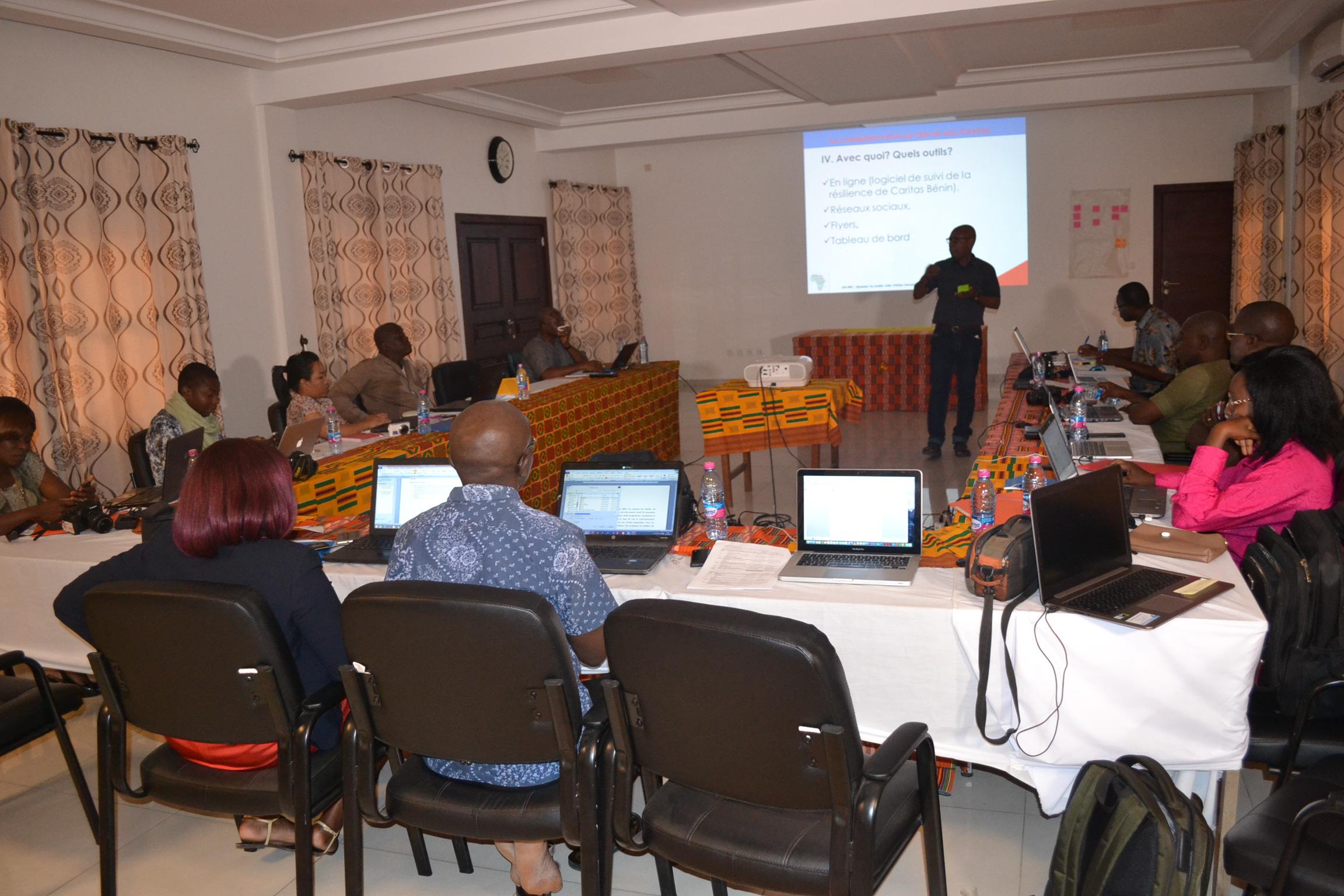 Des Communicateurs de 9 Caritas nationales formés à Lomé par le Programme DIRO