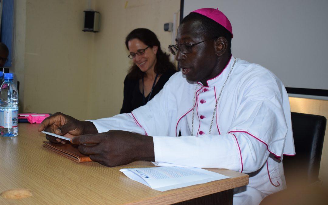 Allocution de Mgr Jonas DEMBELE, Président de la Conférence Episcopale du Mali, évêque de Kayes, à l'occasion de la visite de la Directrice Régionale de CRS au Mali, 24 juin 2019.