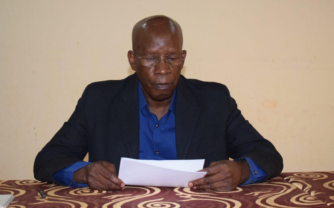 Discours d'ouverture du Secrétaire Général de Caritas Mali de l'atelier de «Réactivation/Dynamisation de la sous-commission justice et Paix au sein de Caritas Mali»