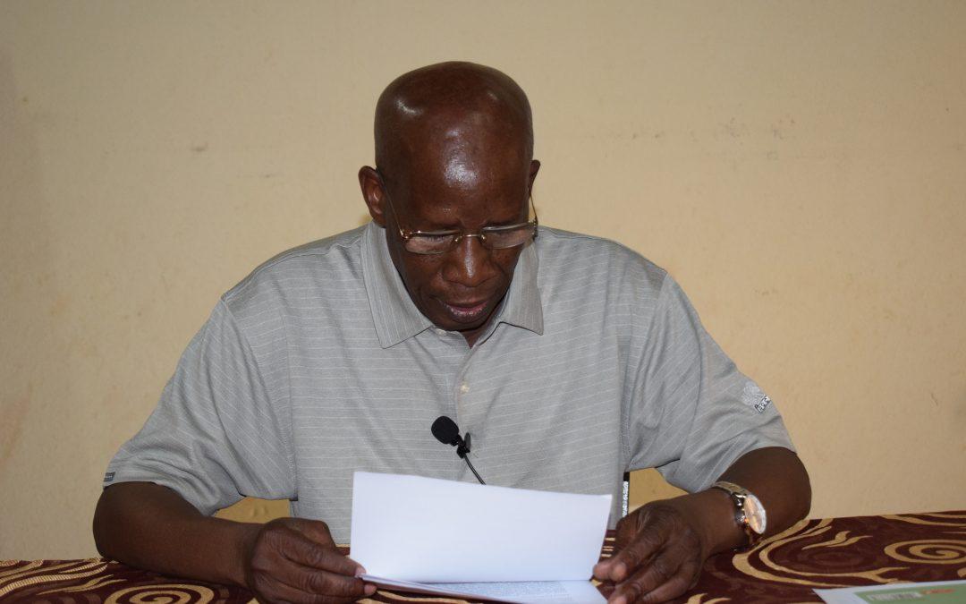Mots de bienvenue du Secrétaire Général de Caritas Mali à l'atelier de formation sur le cadre de Développement Humain Intégral (DHI) Bamako, Sébéninkoro, du 24 au 28 Septembre 2019